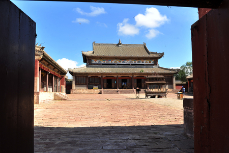 The ancient and elegant architecture of the Inner Mongolia Duolun Hui Zong Temple