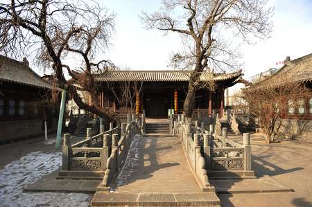The ancient buildings of the Datong mosque in Shanxi