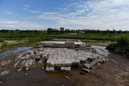 The Stone Bridge Site of the Ming Dynasty Unearthed from Yanghua River, Xuanhua, Hebei Province