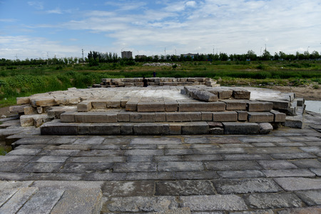 The Stone Bridge Site of the Ming Dynasty Unearthed from Yanghua River, Xuanhua, Hebei Province Sajtókép