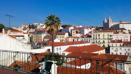 suny: Lisbon old city Stock Photo