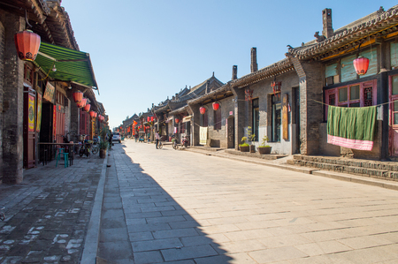 Street in China with ancient buildings