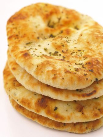 stack of indian naan bread       Stock Photo
