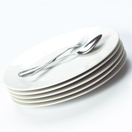 stack of white plates Stock Photo - 7290633