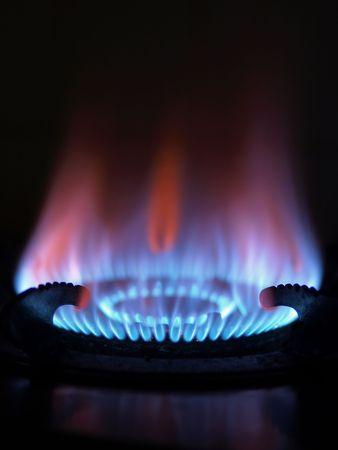blue flame  photo