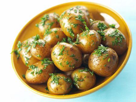 roasted baby potatoes   photo