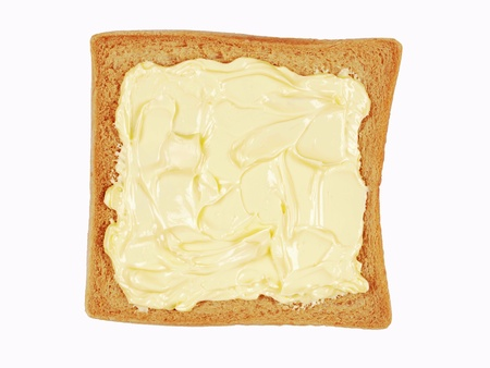 buttered: buttered bread Stock Photo