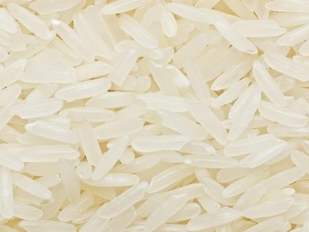 raw white polished rice Stock Photo