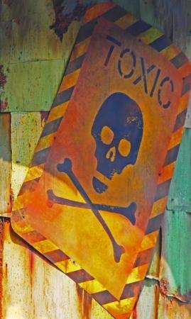 toxic signboard          photo