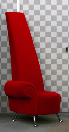 designer chair: red designer chair