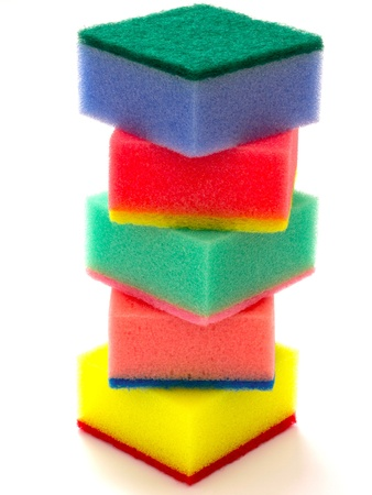 stack of sponge scouring pads