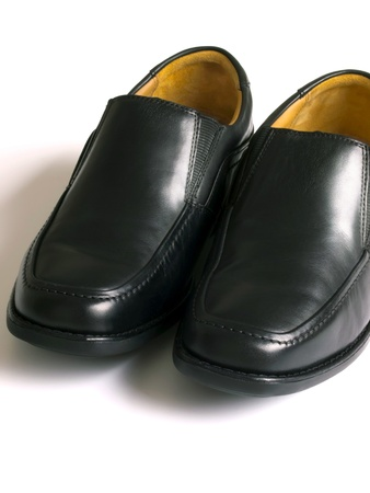 loafers: close up of man business shoe