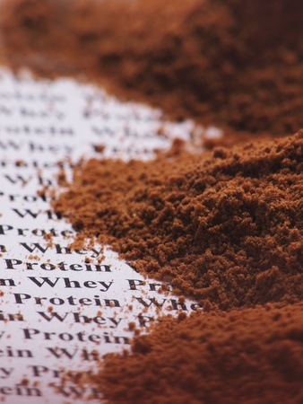 Close up of whey protein photo