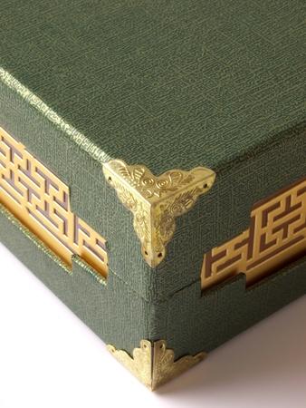 close up of oriental box photo