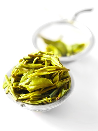 tea filter: chinese tea leaves in a tea filter