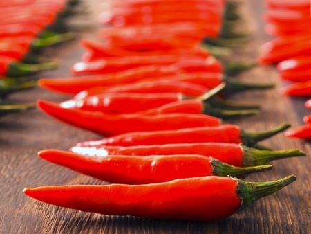 padi: close up of asian red chili padi