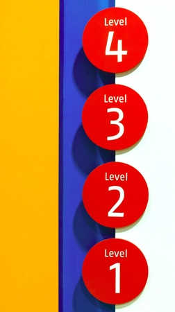 selector: four level selector buttons Stock Photo