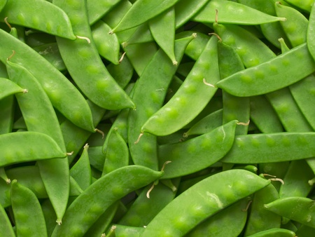 close up of snow peas food background photo