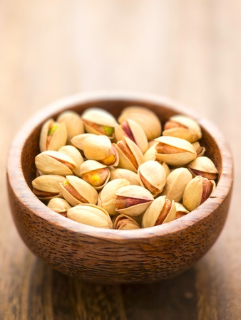 close up of a bowl of pistachio nuts Stock Photo - 12843409