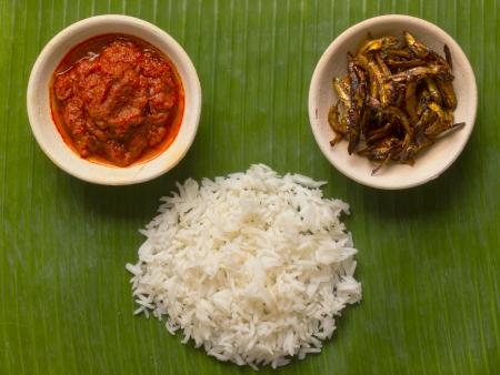 close up nasi lemak coconut flavoured rice photo