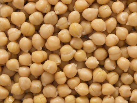 close up of chickpeas food background