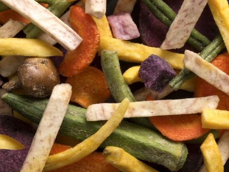 close up of a vegetable chips food background Stock Photo - 15480365