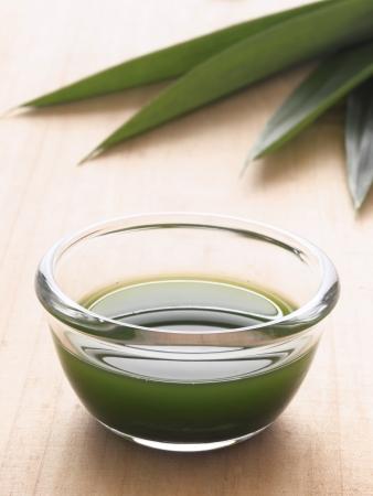 screwpine: close up of a bowl of pandan juice Stock Photo