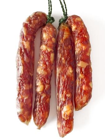 中国豚ソーセージのクローズ アップ 写真素材