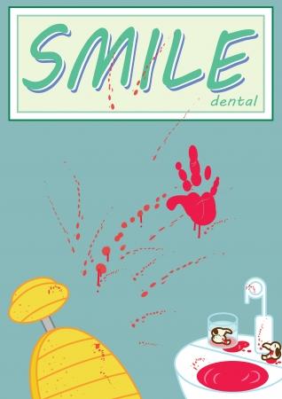 an average day at smile dental Illustration