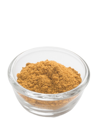 grounded: close up of a bowl of grounded indian cumin powder isolated
