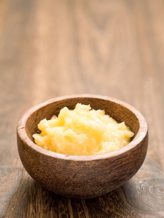 close up of a bowl of indian ghee
