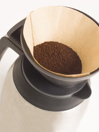 filtered: Close up de caf� de filtro filtrada