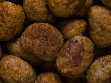 rustic food: close up of rustic meatballs food background Stock Photo