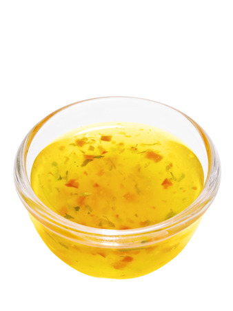 close up of a bowl of italian salad dressing Standard-Bild