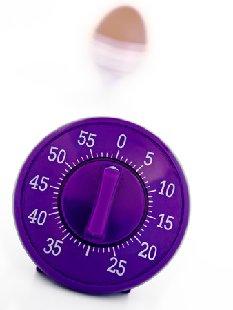 Close Up Of Mechanical Kitchen Timer Stock Photo   28458386