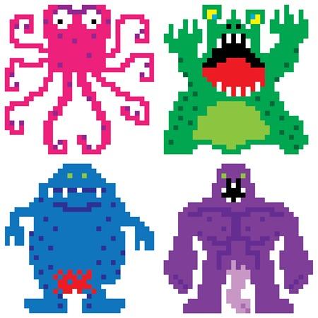 worse: worse nightmare terrifying monsters retro computer eight bit pixel art