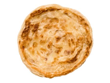 インドのロティ パンケーキ揚げパンケーキ分離のクローズ アップ