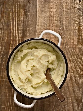 mash: close up of a pot of rustic mash potato
