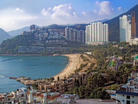 repulse: Repulse Bay HONG KONG - November 10 2014 - Upmarket seaside residential in Hong Kong