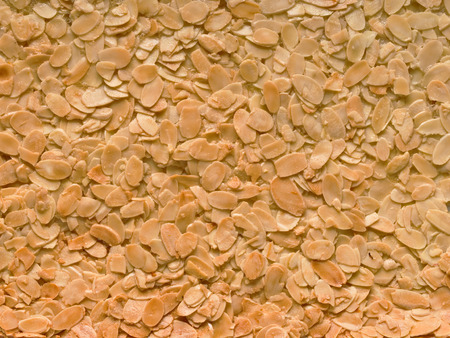 florentine: close up of almond florentine biscuit food background Stock Photo