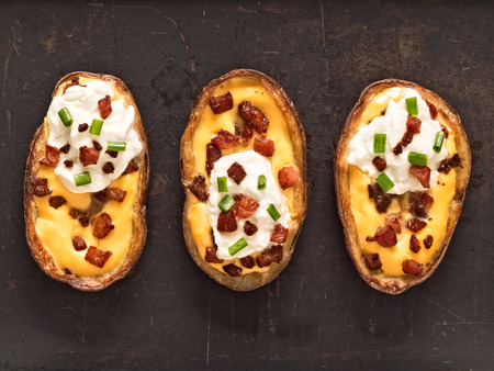 skin color: close up of rustic baked potato skin