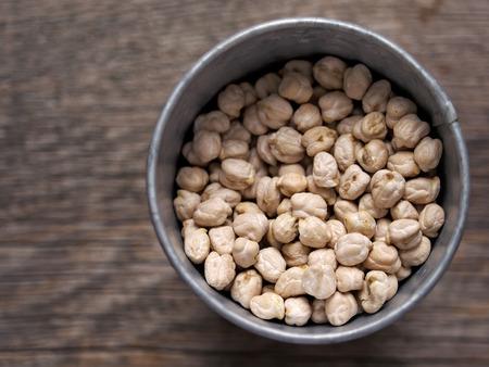 garbanzo bean: close up of rustic dried chickpea garbanzo bean