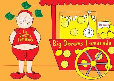 big business: dream big business concept vector illustration