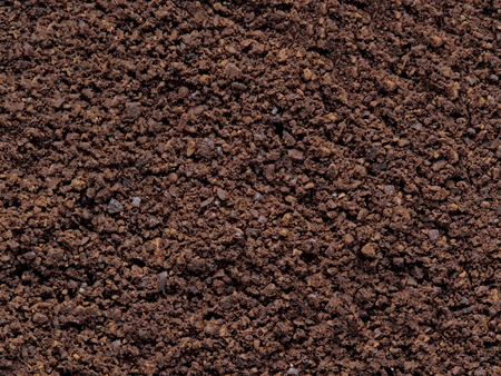 grounded: close up of grounded coffee bean food background Stock Photo