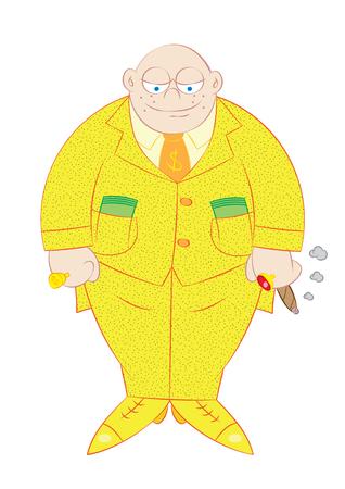 rich: wealthy rich man vector illustration