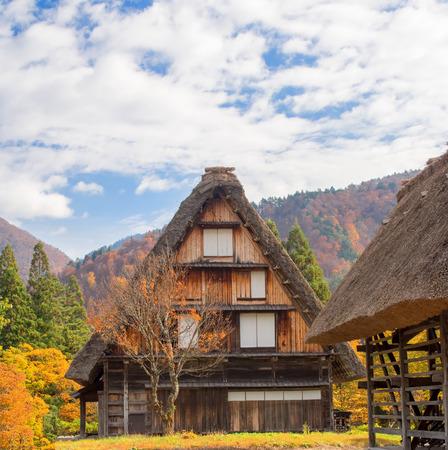 farmhouse: traditional japanese farmhouse at shirakawago Stock Photo