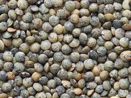 lenteja: cerca de Puy fondo verde de alimentos lentejas franc�s seca