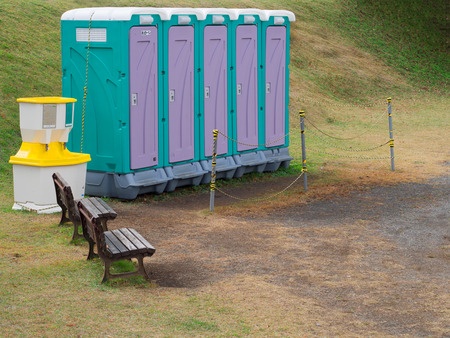 temporary: outdoor mobile temporary toilet