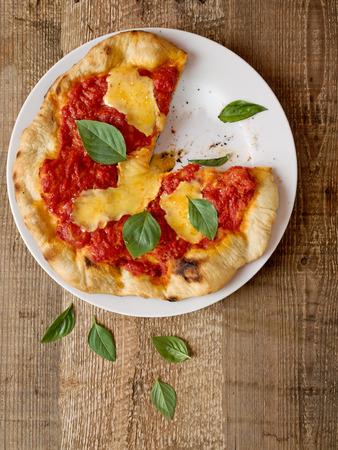 margherita: close up of rustic italian pizza margherita Stock Photo