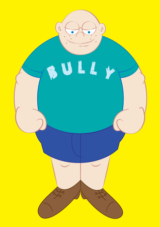 bully: big and strong school bully illustration